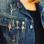 Mini Brooches with Symbols