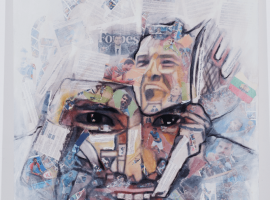 Grigor Dimitrov, Size: 100×150 Technique: collage