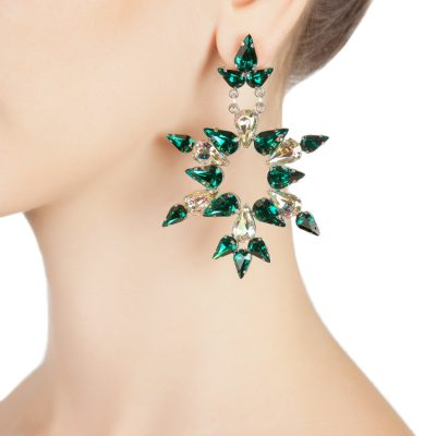 """Dew"" Emerald Earrings"