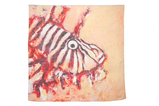 Lion Fish Cashmere Scarf 3