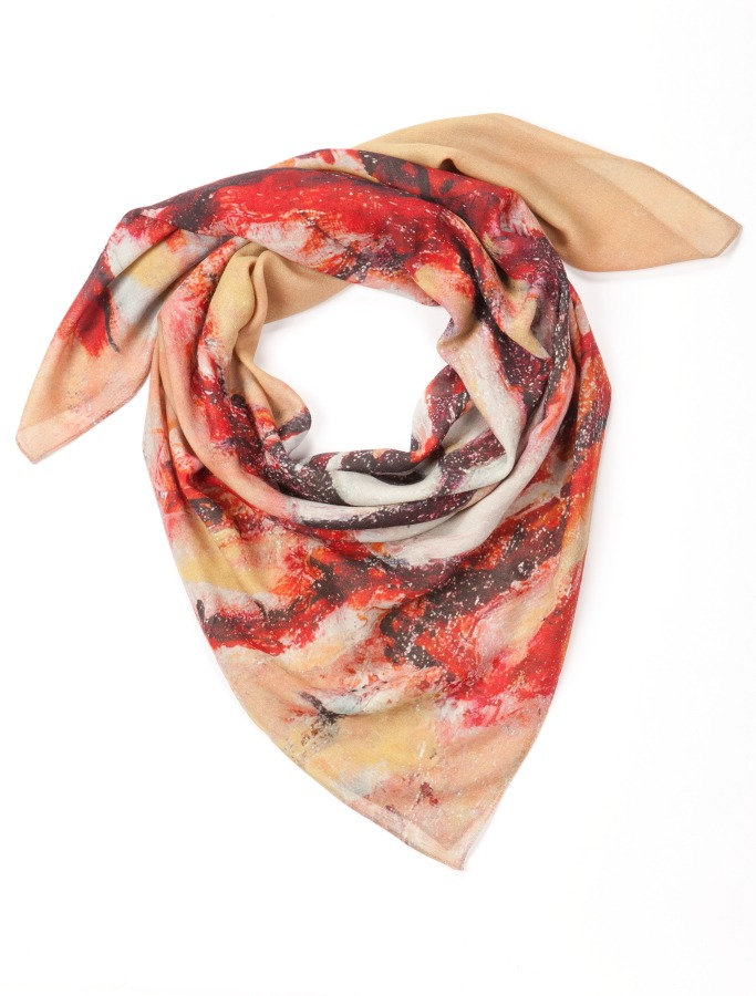 Lion Fish Cashmere Scarf