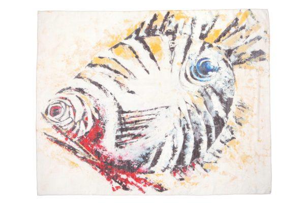 Zebra Fish Cashmere Scarf 2