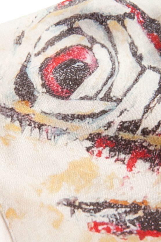 Zebra Fish Cashmere Scarf 3