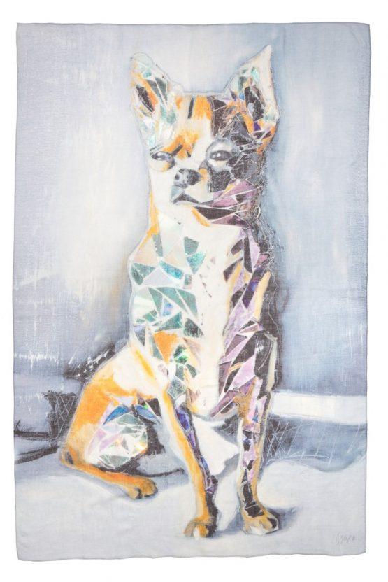 Chihuahua Silk Scarf 2