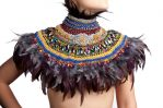 Knitted Feather Collar