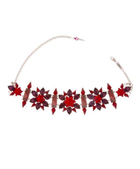 edelweiss choker red