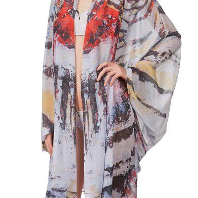 """""""Zebra Fish"""" Kimono"""