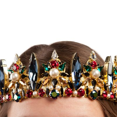 Crystal Crown-Gold Plated