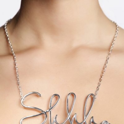 Shhh Silver 925 Necklace