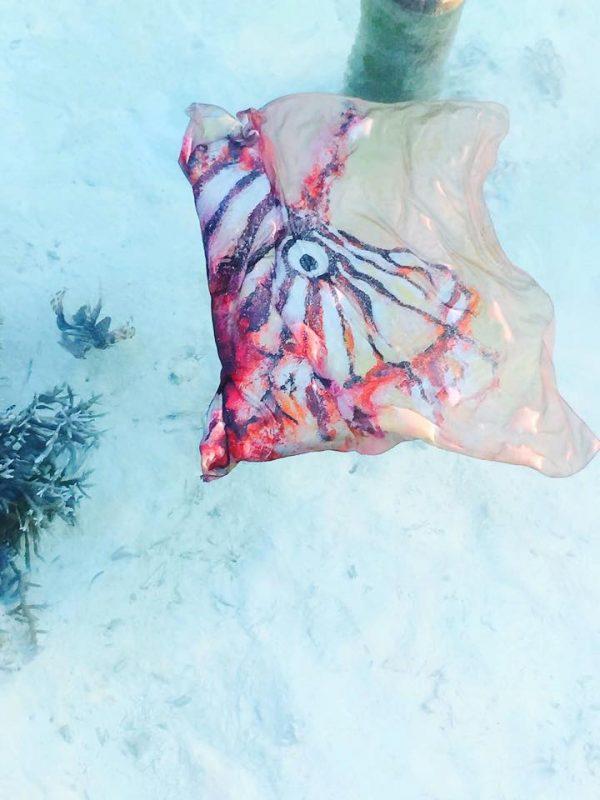 Lion Fish Silk Scarf 2