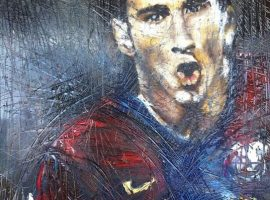 Lionel Messi, Size: 100x80cm Technique: oil