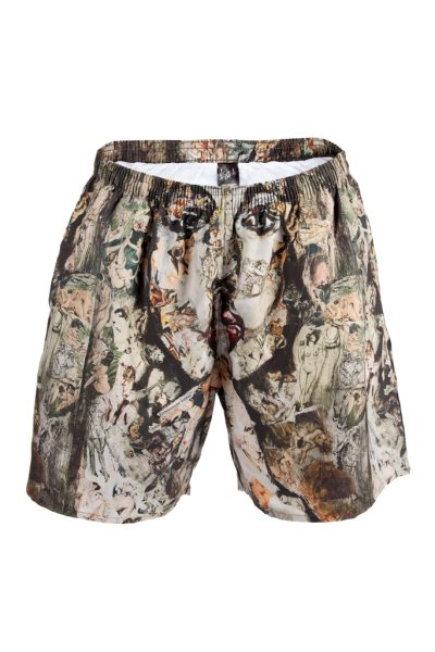 Shhh - printed swim shorts