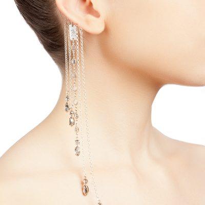 Silver Rain Cuff Earring