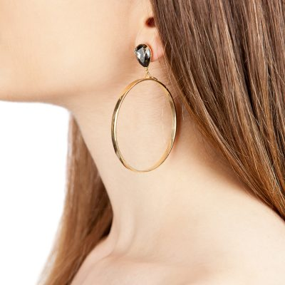 Hoop and Drop Earrings