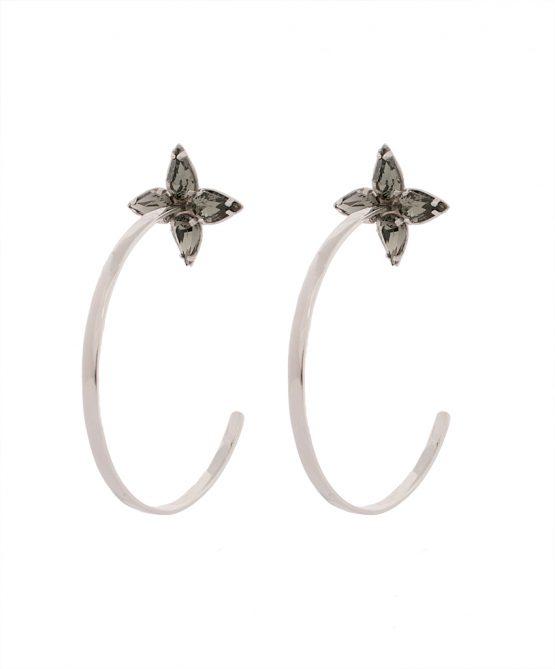 Earrings Embrace- silver/s.night