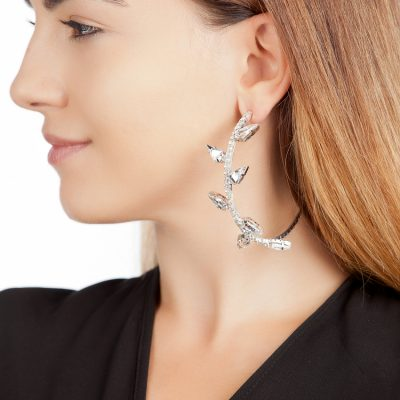 Kite Crystal Hoop Earrings