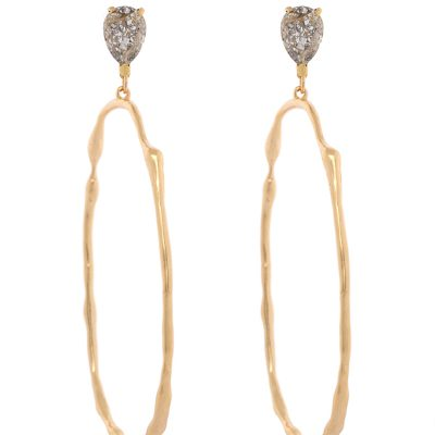"""Rusty Glitz""- Gold Plated Earrings"