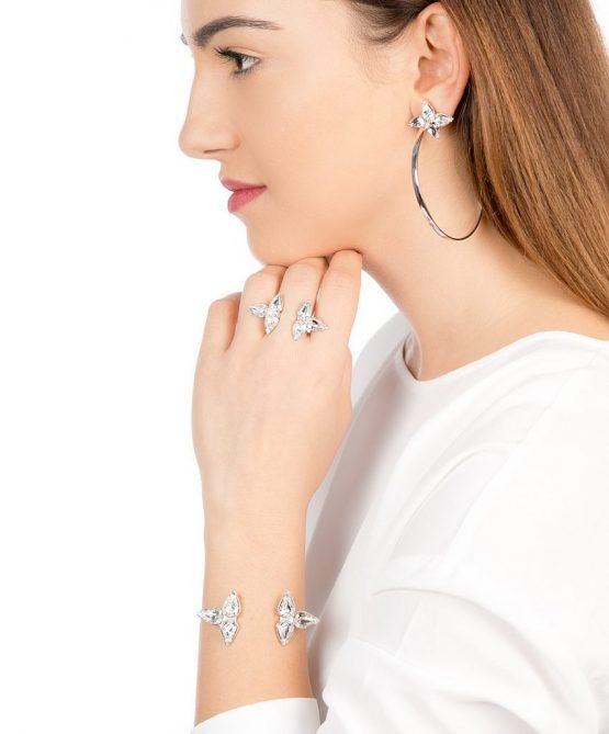 Embrace set - Silver/crystal
