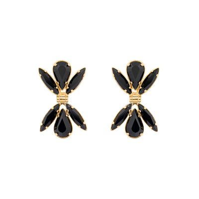 """Dawn""-925+18k Black Earrings"