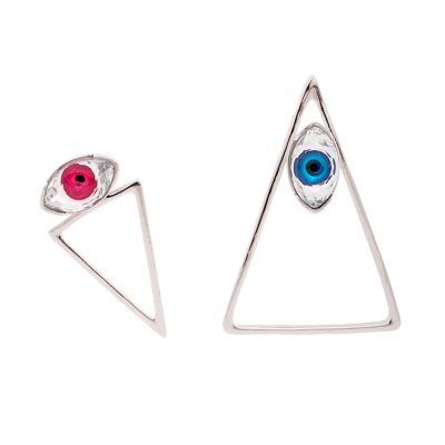 """Look At Me"" -Rhodium Plated Earrings"