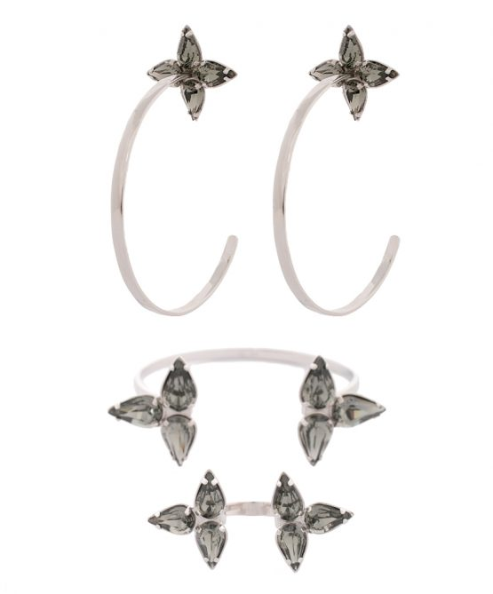 Embrace earrings Set - Silver