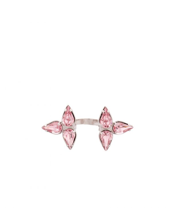 Embrace-ring silver /rose