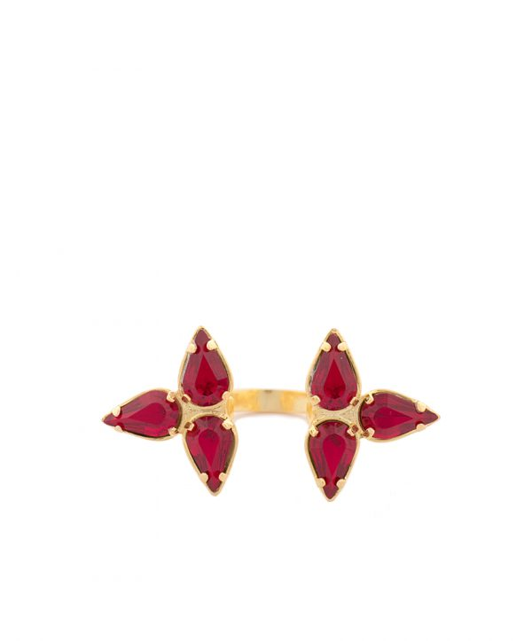 Embrace-ring gold/red
