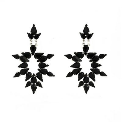 """Dew"" Black Earrings"