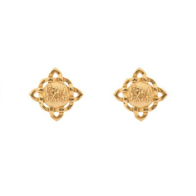 Brand Earrings-Gold Plated