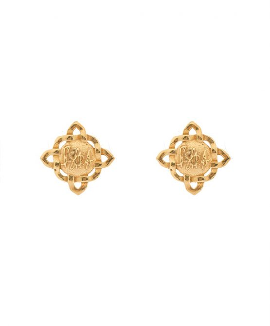 Brand gold plated earrings