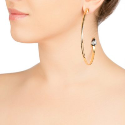 """Cobra""- Gold Plated Half Hoops"