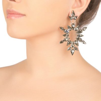 Black Diamond Dew Earrings