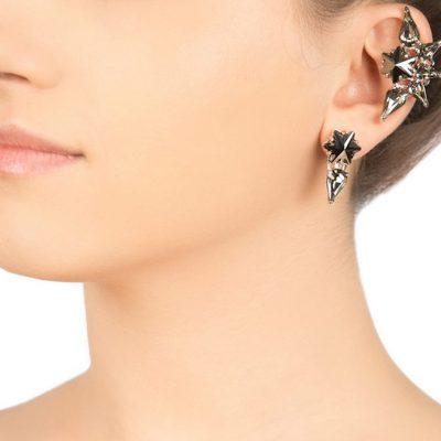 Edelweiss – Hematite Ear cuff
