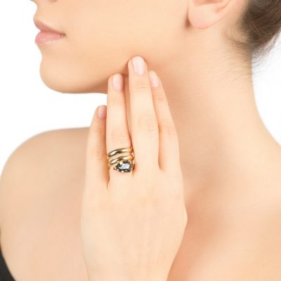 """Cobra"" – Gold Plated Ring"