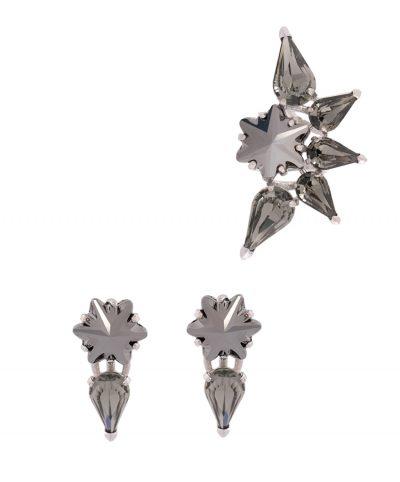 Edelweiss - Hematite Ear cuff