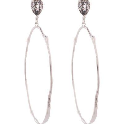 Rusty Glitz - Rhodium Plated Earrings