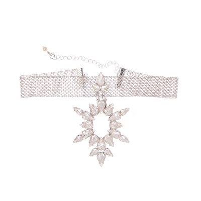 """Dew""-White Crystals Choker"
