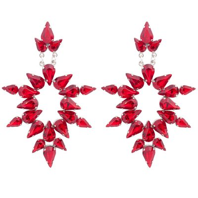 """Dew""- Red Earrings"