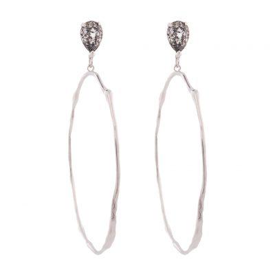 Rusty Glitz Silver Earrings