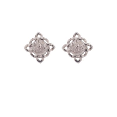 Brand Earrings-Rhodium Plated