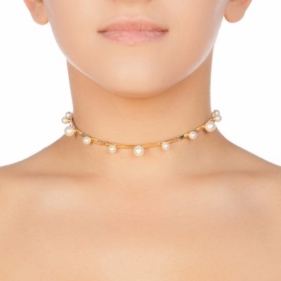 Pearl Magic Gold Plated Choker