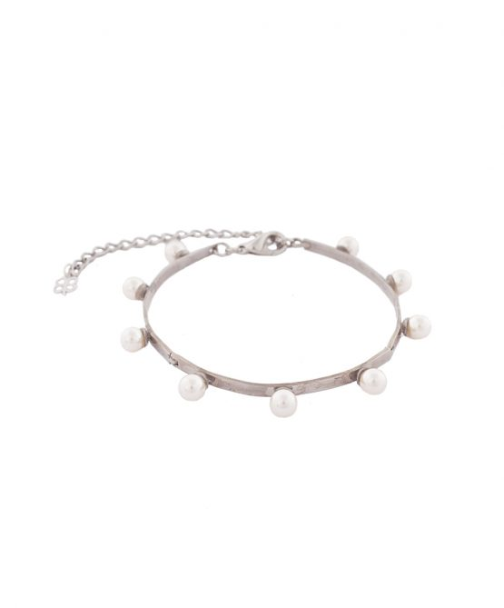 pearl magic bracelet /silver plated