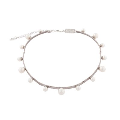 """Pearl Magic"" Silver Plated Choker"
