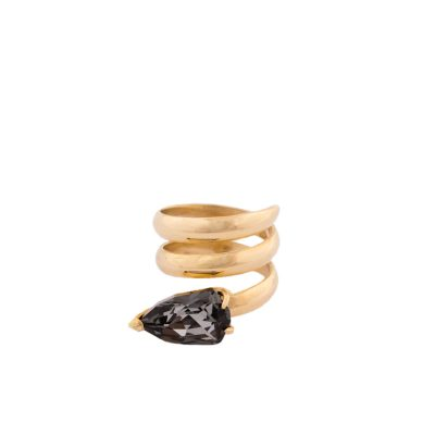 Cobra - gold plated ring