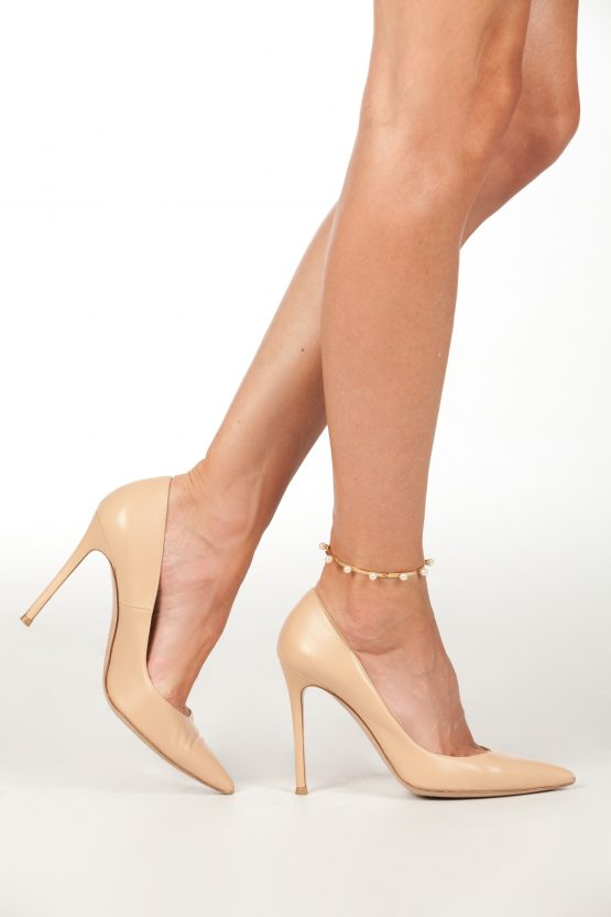 pearl magic ankle bracelet gold
