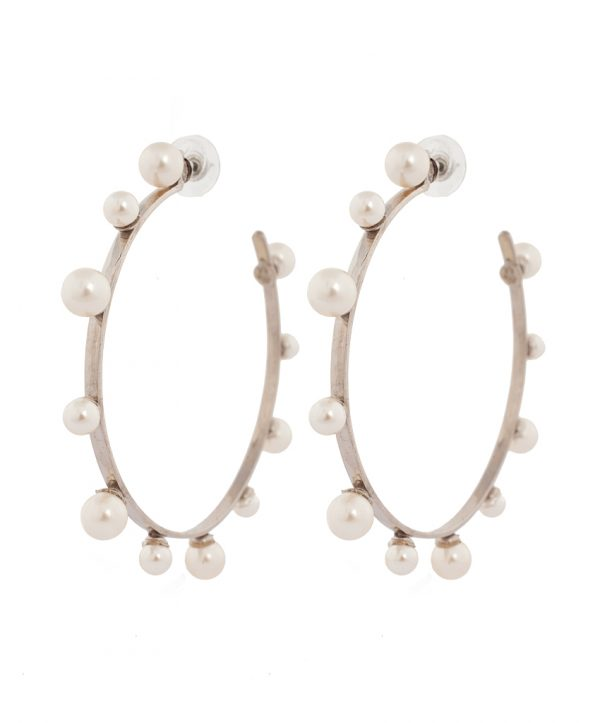 pearl magic silver plated earrings