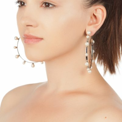 Pearl Magic – Rhodium Plated Hoops