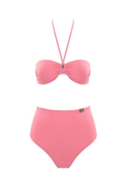 Blue Eye - Pink bandeau style swimsuit
