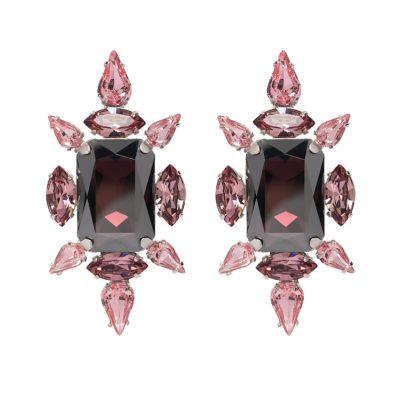 Crystal Chic Earrings - Vintage Rose