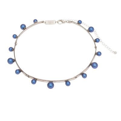 "Colourful ""Pearl Magic"" Silver Plated Choker"
